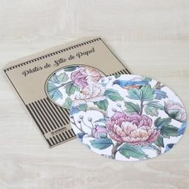 Pack Papel Plato de sitio/Individual Spring Flowers