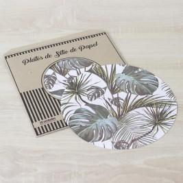 Pack Papel Plato de sitio/Individual Palma Tropical