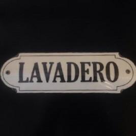 Cartel Sagomado Lavadero