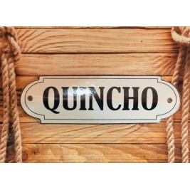 Cartel Sagomado Quincho