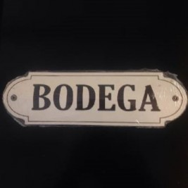 Cartel Sagomado Bodega