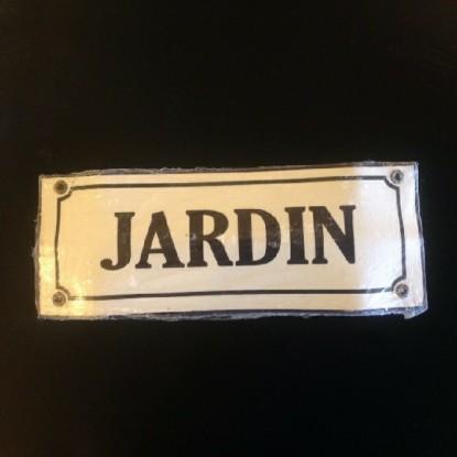 Cartel Rectangular Jardin