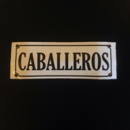 Cartel Rectangular Caballeros
