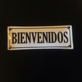 Cartel Rectangular Bienvenidos