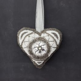 Colgante Corazón bordado Med.