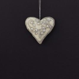 Colgante Corazón bordado -C-